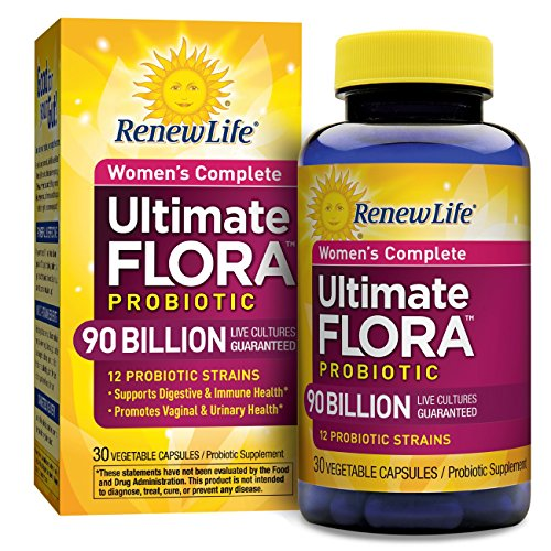 Renew Life - Ultimate Flora Probiotic Women's Care, Shelf Stable Probiotic Supplement - 90 billion - 30 vegetable capsules (Packaging May Vary) ()