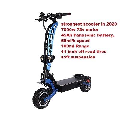 Zenuchi Electric Scooter 7000W 72V Dual Motors 45ah Panasonic Battery up to 60ml Speed, 60-100ml Range : Sports & Outdoors