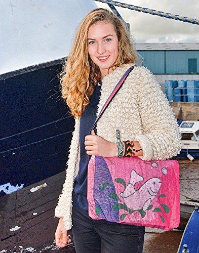 Voyage Fair Trade - Bolso estilo cartera para mujer Rosa rosa
