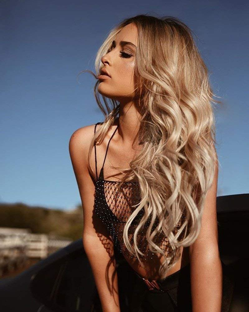 Full Shine 24 inch Human Hair Ash Colorado Springs Max 47% OFF Mall Bab Lace Wigs With Front Blond