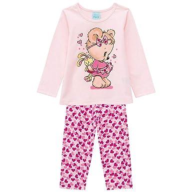038d7b8ae Pijama Infantil Feminino Blusa + Calça Kyly 206780.40063.P  Amazon ...