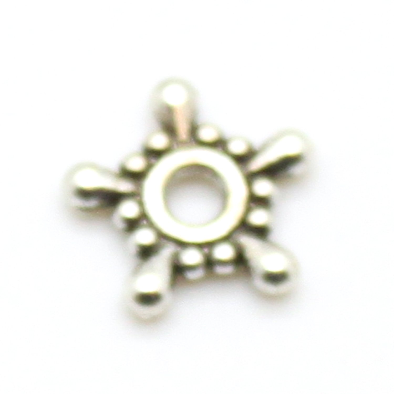 40 Tibetan Silver 7mm Spacer Beads Jewellery Making