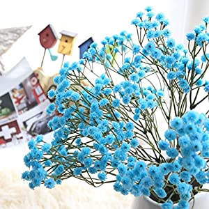 LtrottedJ Artificial Silk Fake Flowers, Baby's Breath Floral Wedding Bouquet Party Decors 28
