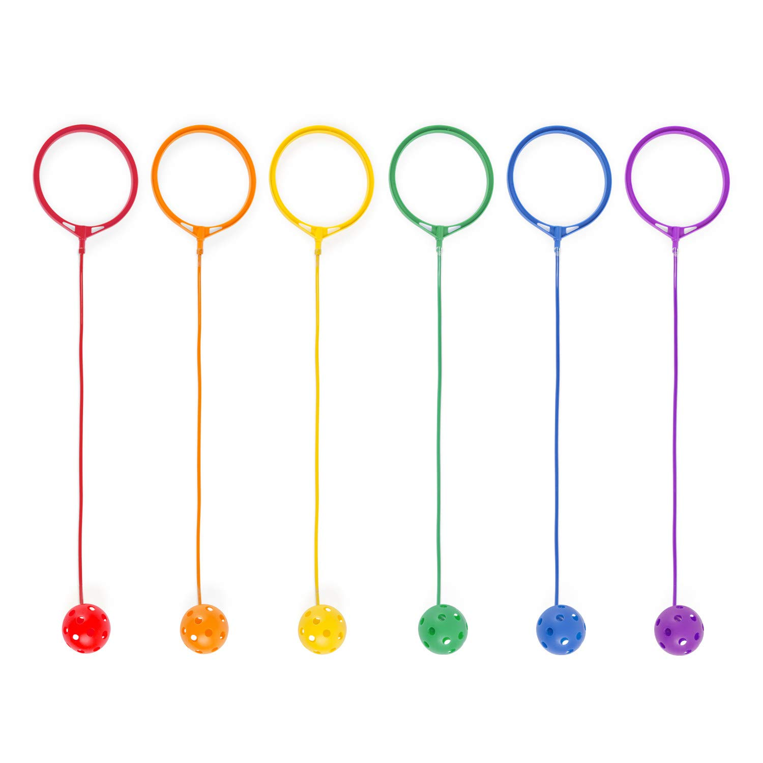 Champion Sports Swing Ball Set, Pack of 6, Assorted Colors by Champion Sports
