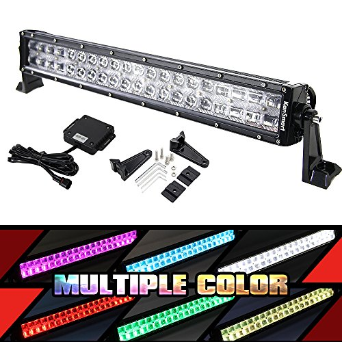 LED light bar,12 Inch RGB LED Bar by Bluetooth APP with Mounting Brackets & Wiring Harness for Off-road Jeep Truck ATV SUV Boat