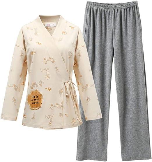 baijuxing Pijamas japoneses Pijamas Primavera y otoño Mujeres 100 ...