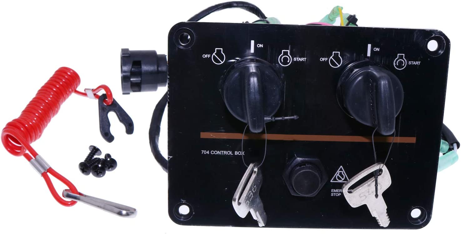 Yixin Outboard Dual Engine Key Switch Panel Twin Switch 6K1-82570-08-00 Fits for Yamaha Outboard Engine