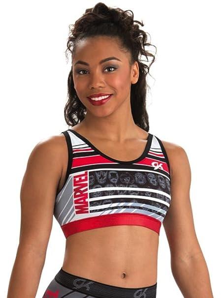 77c3e9a690a60 Amazon.com  GK Elite Marvel Bra Gymnastics top Made in USA  Clothing