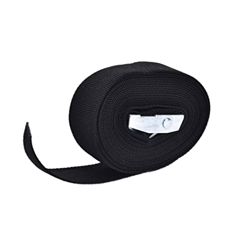 Pack Strap,2.5cm Width 1M//2M//3M//4M Length Cargo Tie Down Luggage Pack Cam Tie Down Nylon Strap Lash Luggage Bag Belt Luggage Trailer Tie Roof Rack Straps with Metal Buckle 1m,Yellow