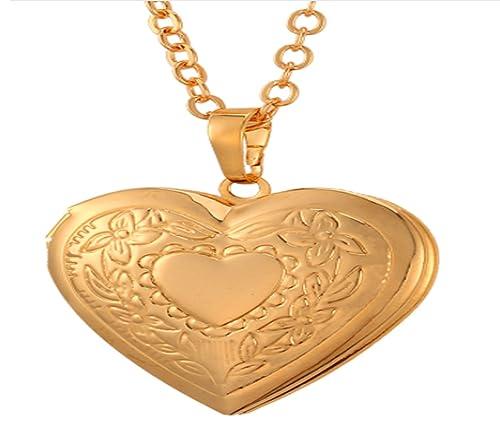 Amazoncom Photo Heart Floating Locket Charm Jewelry Non Tarnish