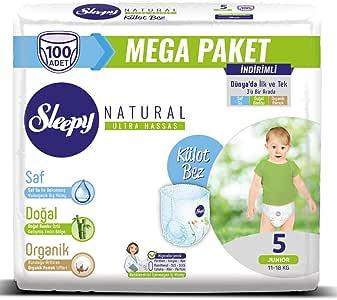 Sleepy Natural Külot Bez, 5 Beden, Junior, 100 Adet