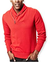 Sean John Mens Zip Shawl Pullover Sweater