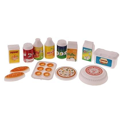Amazon.es: MagiDeal 12pcs Sistema de Alimento de Bebé en Miniatura ...