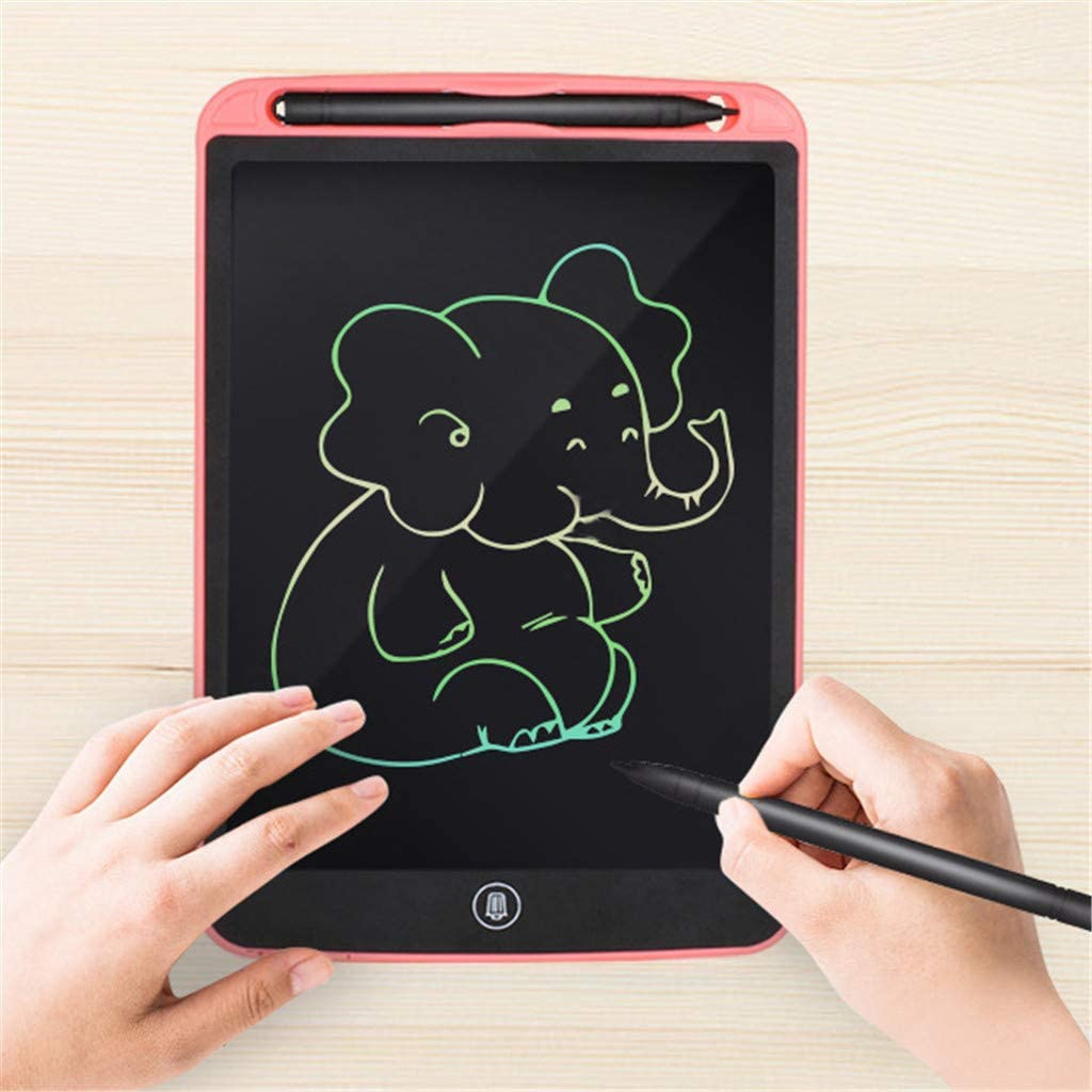 8.5inch Drawing Board Doodle Board with Colorful Screen 4Clovers LCD Writing Tablet Writing Board Electronic Doodle Pads Learning Tablet for Kids and Adults Pink