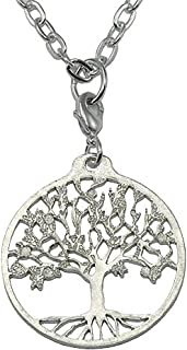 "product image for From War to Peace Tree of Life Silver-Dipped Pendant Necklace on 18-36"" Silver Plated Cable Chain"
