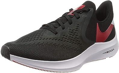 Lubricar Penélope Cerdo  Amazon.com: Nike Zoom Winflo 6 AQ7497-008 - Zapatillas de running para  hombre, color negro y rojo, negro, 7: Shoes