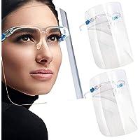 SB Components (1 Pack) Full Face Beschermend Shield Vizier, Plastic Transparant Gezichtsvizier, Bestand om speeksel…