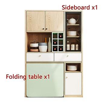 Mesa De Comedor Plegable Combinación De Aparador Apartamento ...