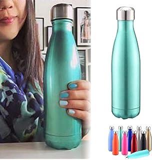 BICASLOVE Botella de Agua de Acero Inoxidable,diseño de ...