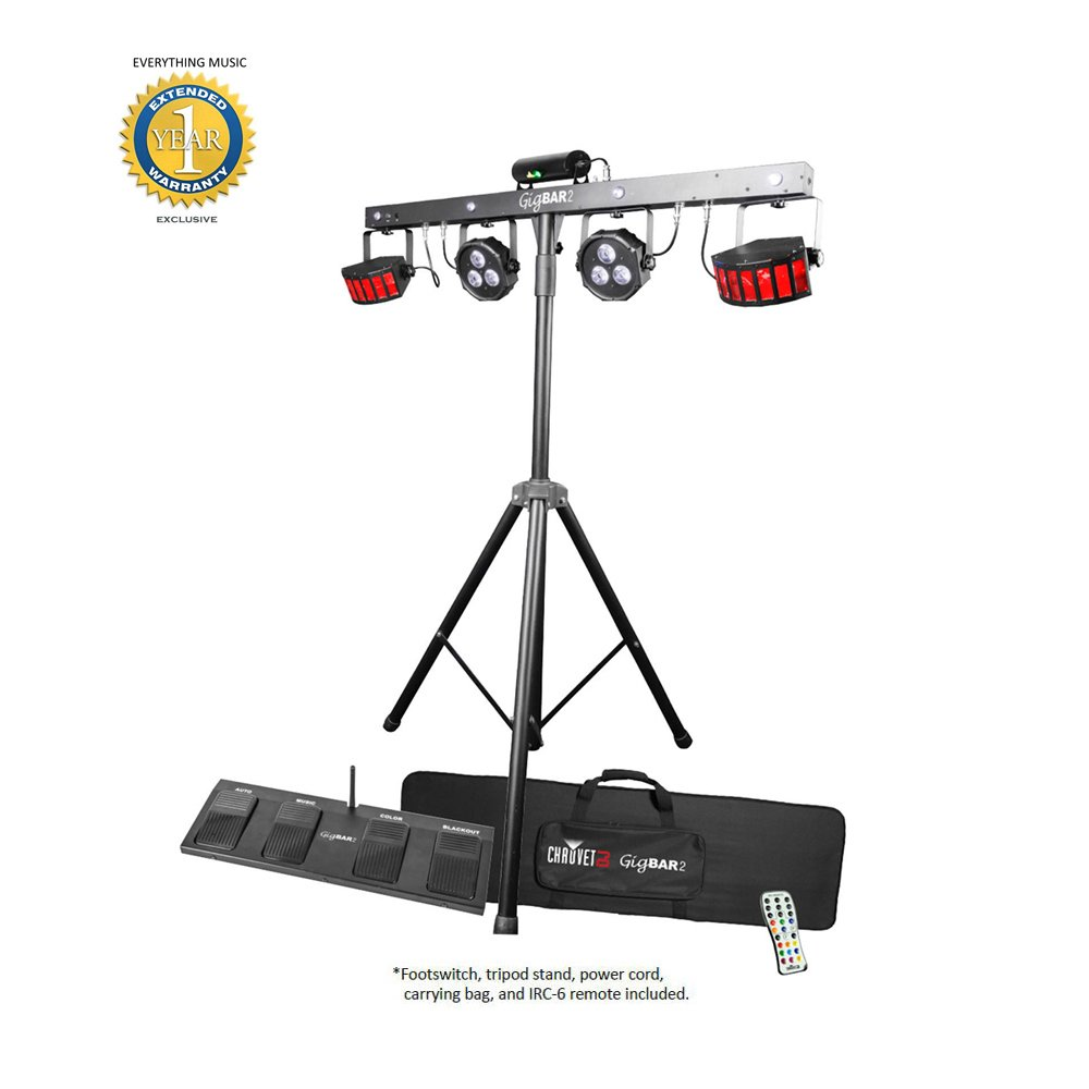 Chauvet DJ GigBAR 2 4-in-1 Multi-Effect Light with 1 Year EverythingMusic Extended Warranty Free