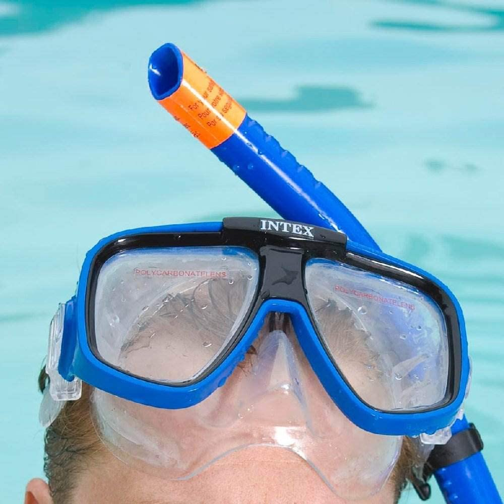 Details about  /Intex Swimmer Set Goggle Mask Snorkel Flipper Reef Rider Swimming Youth Adult