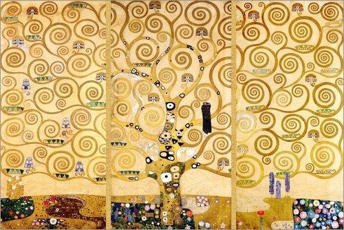Acrylglasbild 150 x 100 cm Posterlounge Acrylglasbild 150 x 100 cm  Der Lebensbaum von Gustav Klimt - Wandbild, Acryl Glasbild, Druck auf Acryl Glas Bild