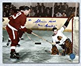 Autograph Authentic HALG101024 Glenn Hall Chicago Blackhawks Autographed vs Gordie Howe 8 x 10 in. Photo