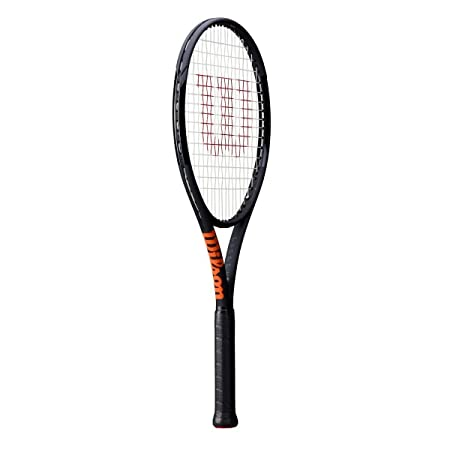 Amazon.com : Wilson Burn 100S 18x16 Countervail (CV) Matte Black with Orange Trim Midplus Tennis Racquet (4 1/8 Inch Grip) Strung with Black String (Kei ...
