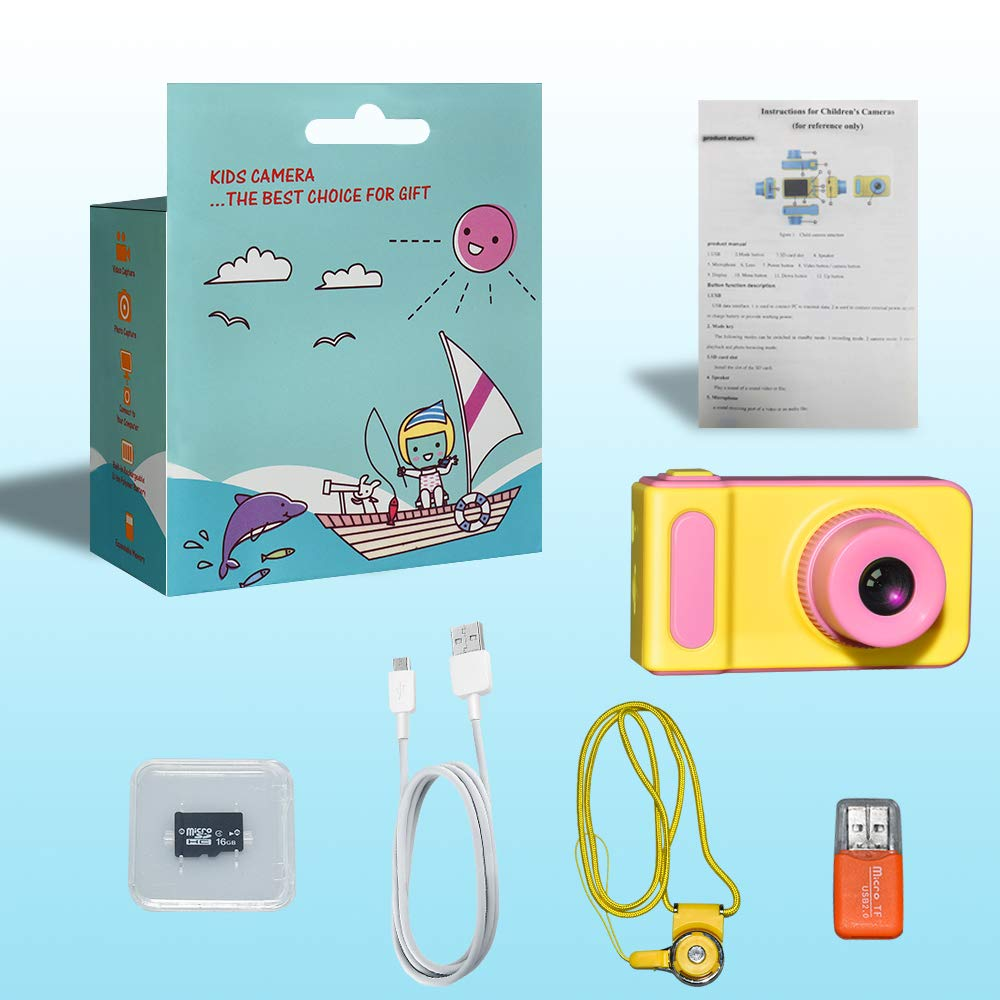 WIKI Birthday Presents Gifts for 3-8 Year Old Girls, Digital Camera for Kids Cool Toys for 3-8 Year Old Girls Outdoor Toys Age 3-8 Pink WKUSZXJ02 by WIKI (Image #7)