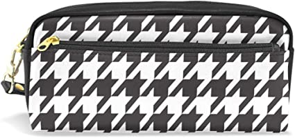 JSTEL - Estuche escolar, diseño clásico, color blanco y negro para niños, adolescentes, bolígrafos, cosméticos, maquillaje, neceser de papelería de gran capacidad: Amazon.es: Oficina y papelería