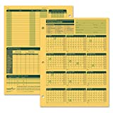 ComplyRight Fiscal Year Attendance Calendar, 2018-2019, Pack of 50 (A4200AMZ)