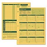 ComplyRight Fiscal Year Attendance Calendar, 2018-2019, Pack of 50 (A4200AMZ)