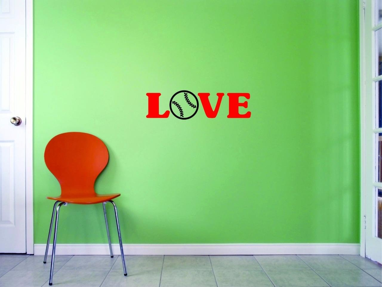 10 Inches X 36 Inches Color Multi 10 x 36 Design with Vinyl US V JER 2647 3 Top Selling Decals Love Baseball Wall Art Size