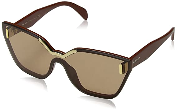 6e11d33381 Amazon.com: Prada Women's Hide Catwalk Sunglasses, Light Brown/Brown ...