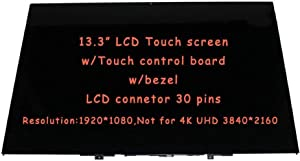 "New Replacement 13"" FHD LCD LED Touch Screen Display with Bezel Frame fit Lenovo Yoga 730-13 81CT0008US (NOT for UHD Version)"