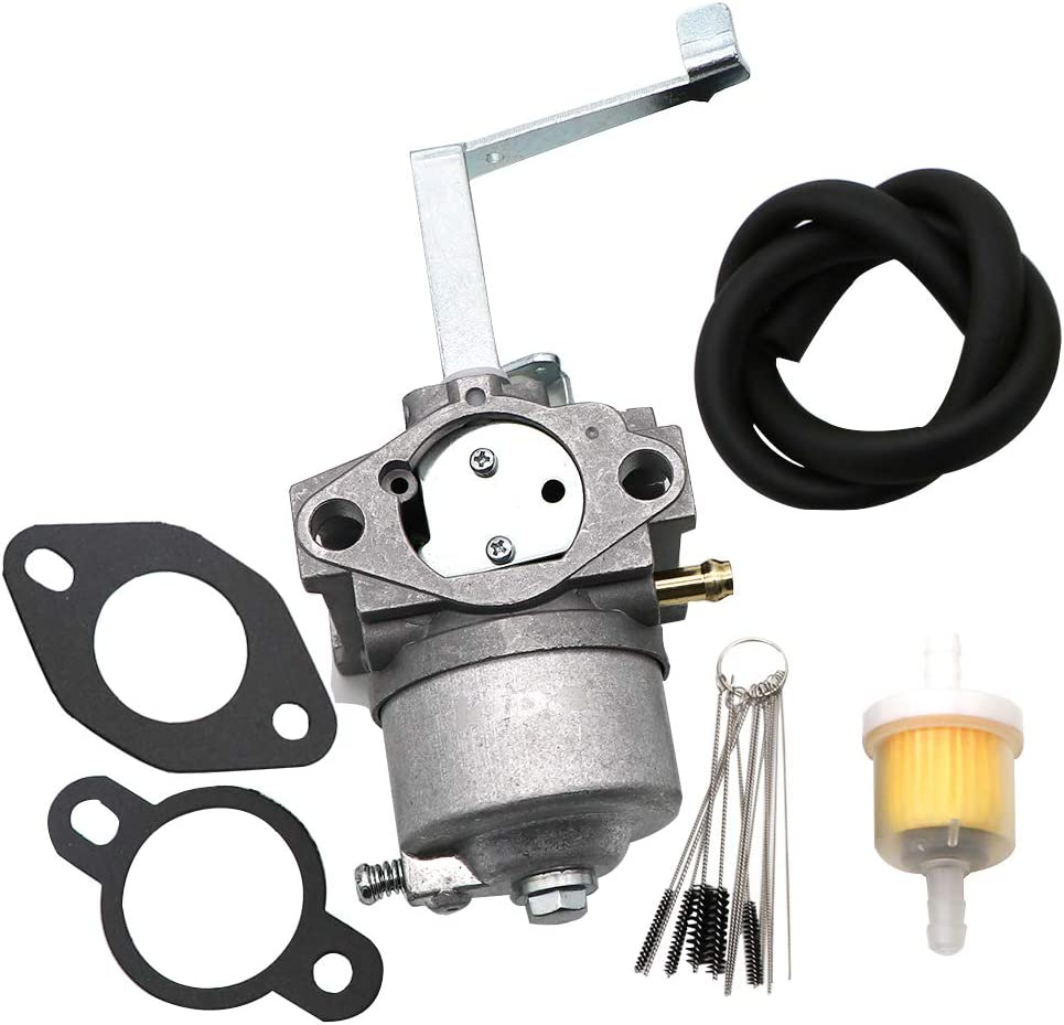 KIPA Carburetor For YAMAHA MZ360 Engine Without Solenoid Type A, MPN EZ-MZ360-00CM, With Carbon Dirt Jet Cleaner Tool Kit & Fuel Filter Mounting Gasket
