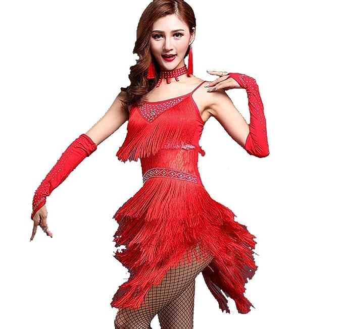 Amazon.com : TANGF Women Costumes Adult Latin Dance Dress ...