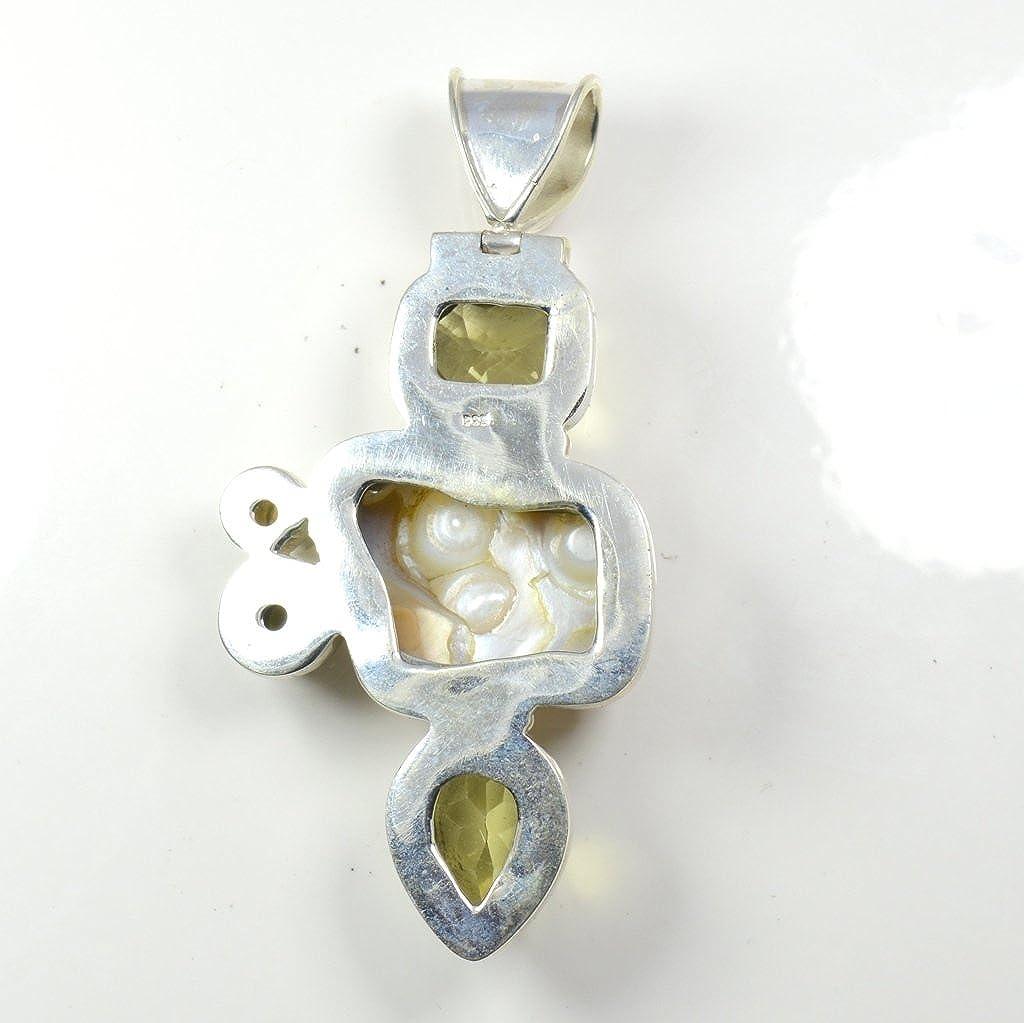 Gemsonclick Natural Multi Colour Gemstone Pendant Mixed Shape 925 Sterling Silver MSP-150