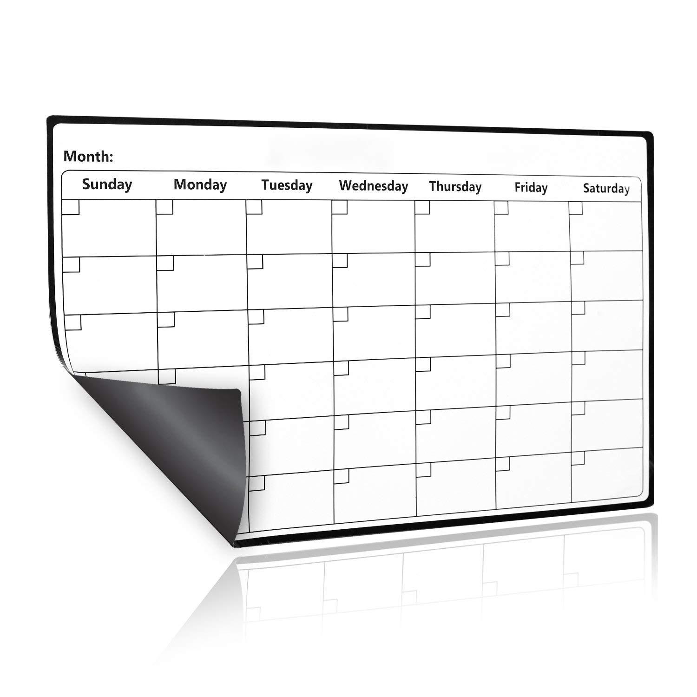 Pizarra blanca con calendario magnético de borrado en seco para ...