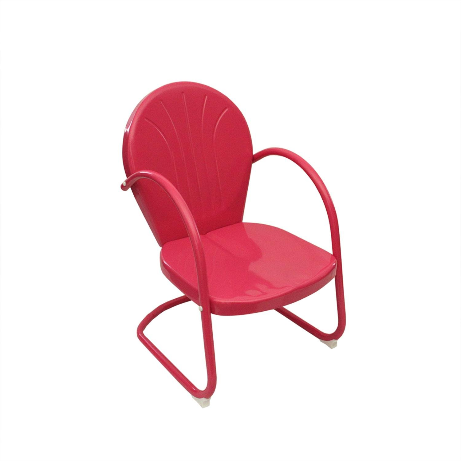 Amazon Pink Retro Metal Tulip Chair Camping Chairs