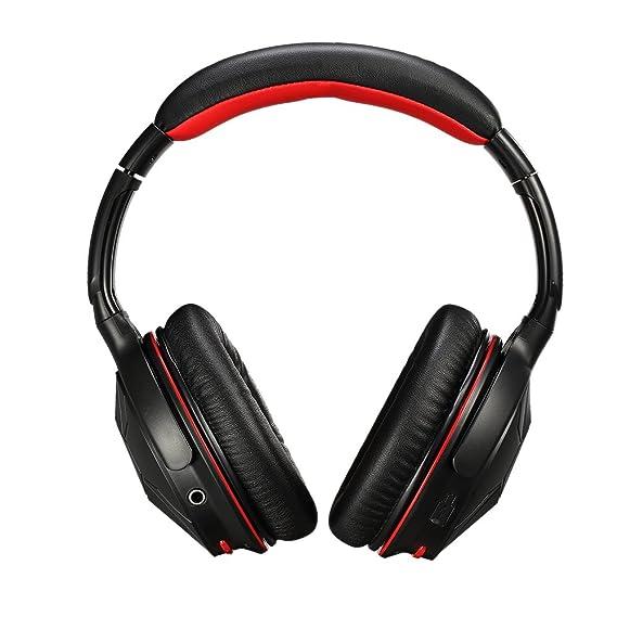 Ausdom M04S Auriculares Inalámbricos de Diadema NFC (Bluetooth 4.0 EDR, Micrófono Incorporado, 3.5
