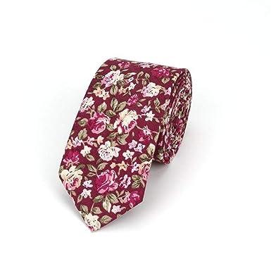 WJYX Corbata Nueva corbata de lazo con estampado 100% algodón para ...