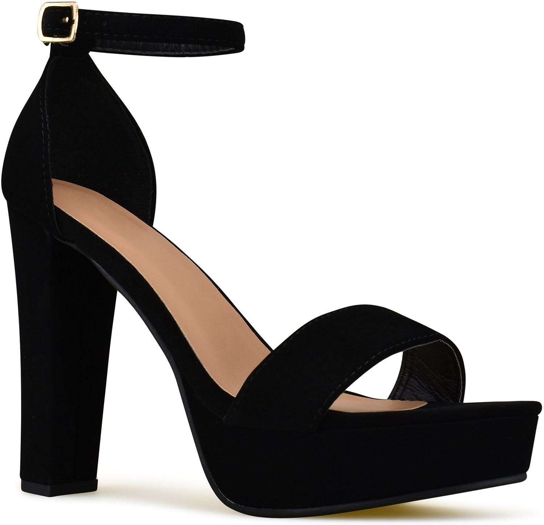 Womens Platform Ankle Strap High Heel