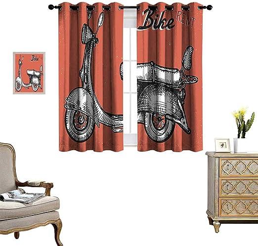 Cortina blackout para puerta corredera de patio para salón/dormitorio, rústica, puerta de madera antigua con