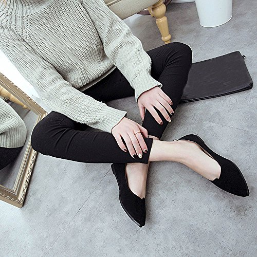 Comfy Shoes Pointy Black Solids Soft Toe Women's On ZOMUSA Hot Flats Sales Slip Casual ZnOqw6I7