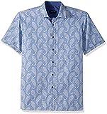 BUGATCHI Men's Fine Cotton Shaped Fit Point Collar, Classic Blue, XL