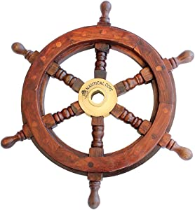 Nautical Cove Wooden Ship Wheel 12