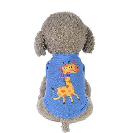 Ropa de algodón para Mascotas Ropa de Perro a Prueba de ...