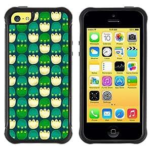 Suave TPU GEL Carcasa Funda Silicona Blando Estuche Caso de protección (para) Apple Iphone 5C / CECELL Phone case / / Paws Pc Game Green Pattern /