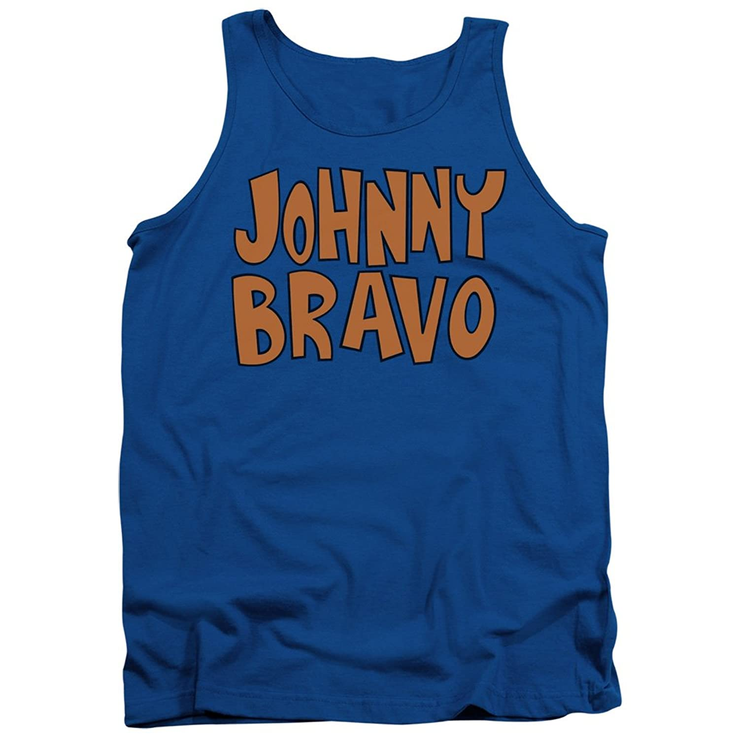 Johnny Bravo Cartoon Network Series Show Logo Adult Tank Top Shirt